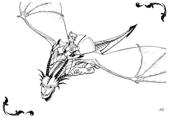 Carte postale d'Agénor Le Ruyer - Âme de dragon