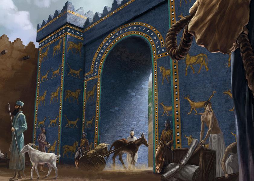 Carte postale de Clooms - La Porte d'Ishtar à Babylone